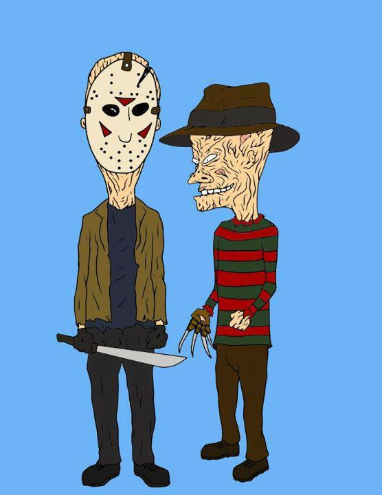 Beavis & Butthead as Jason & Freddy