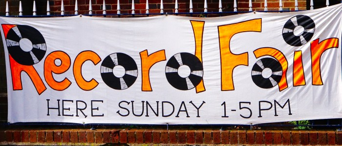 Buying and selling records Record Fair banner