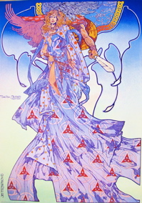 Macha and Nemed by Jim Fitzpatrick