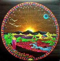 Moon Mountain black light poster