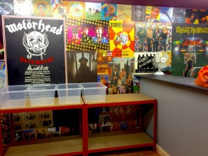 Lindas wall in the psychotron records shop