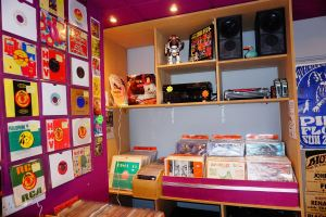 interior of Psychotron shop - hifi corner