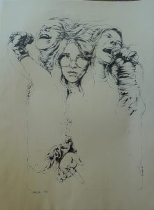 Sketch photo of Janis Joplin