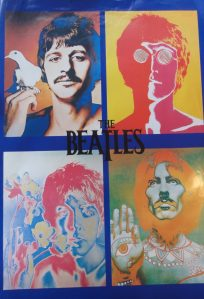 psyadelic poster of the beatles