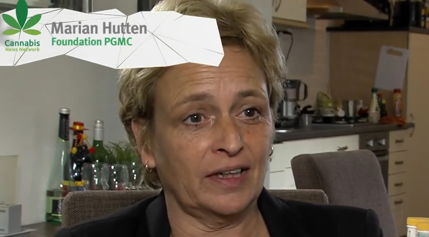 Marian Hutten, chairperson of the PGMCG (a non-profit organisation of medicinal cannabis patients)