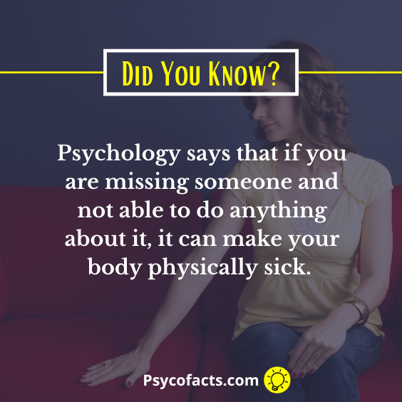 Psychological Facts About Missing Someone