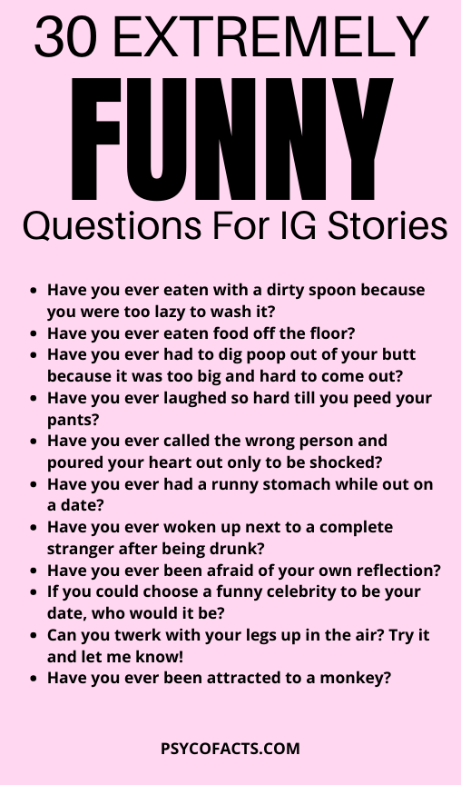 Funny Questions To Ask On Instagram Story