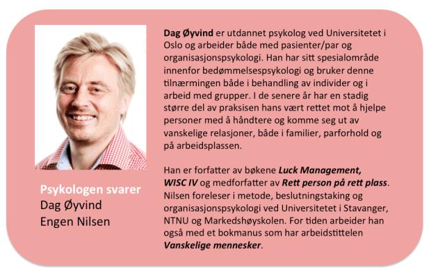 Ansikt utad er Psykopaten.info Fagredaktør Dag Øyvind Engen Nilsen