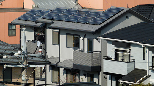 rooftop solar panels photo