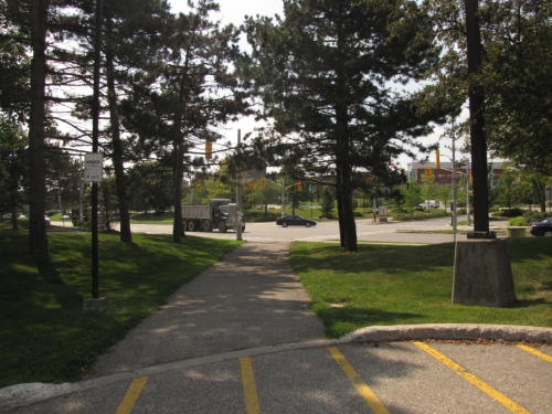 Path out of parking lot