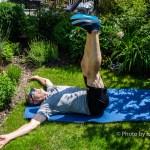 Core Training Bein absenken beide Beine senkrecht zur Decke/Himmel