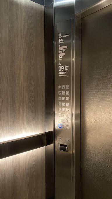 ダブルツリーバンコクプロエンチット エレベーター