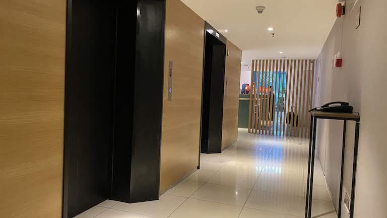 ヒルトンガーデンインKLサウス エレベーターホール
