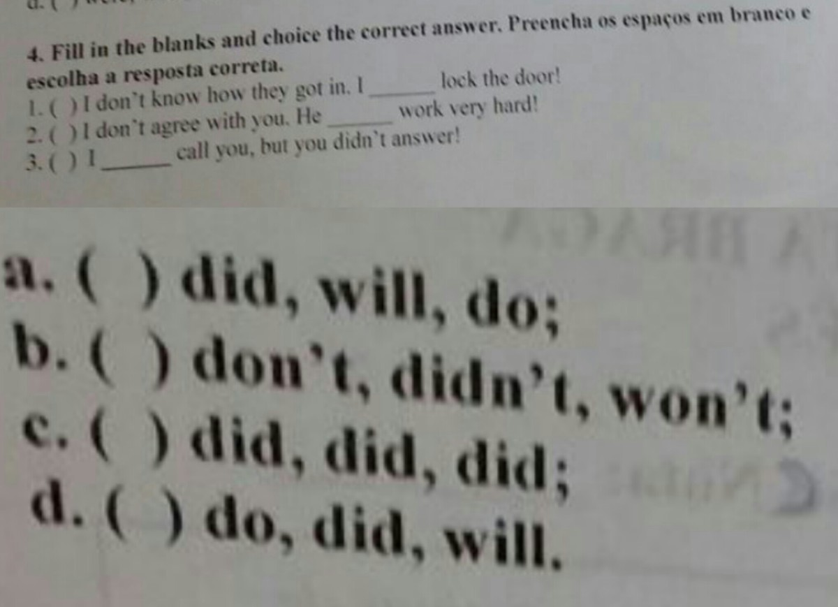 Qual E A Resosta Correta Para Estas Frases Por Favor