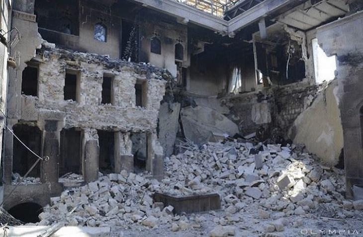 Síria antes e depois da guerra