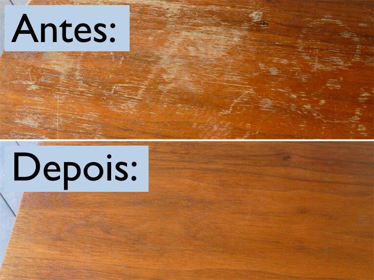 Como limpar móveis arranhados