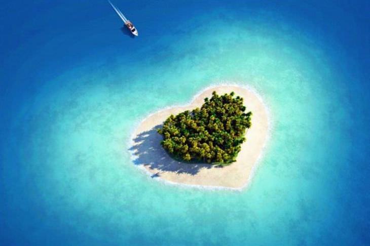formato de coração em paisagens da natureza