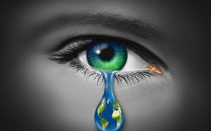 Mãe Natureza chorando