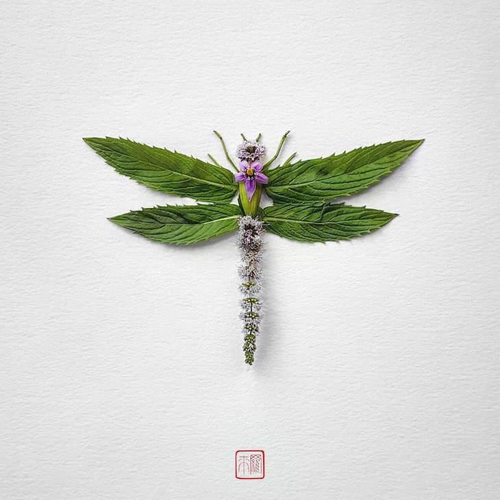 insetos feitos com flores