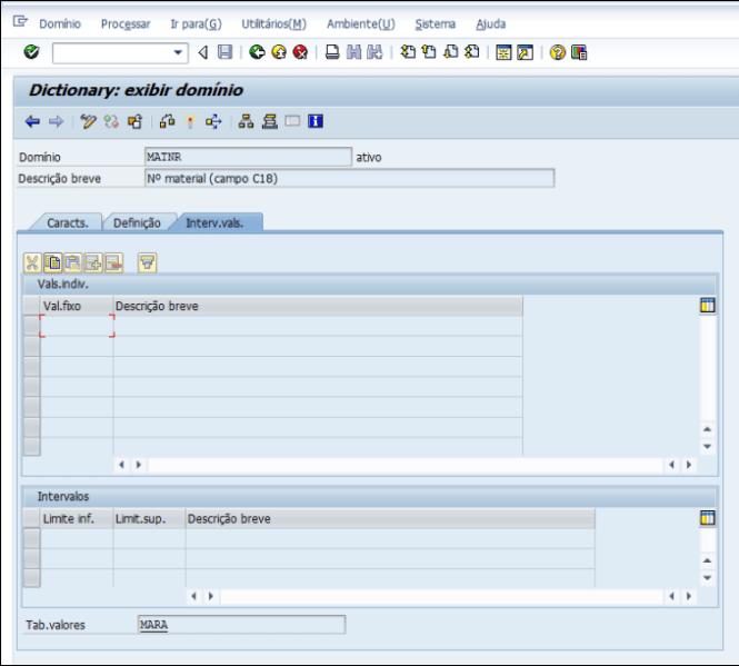 ABAP SAP - O Que é Domínios