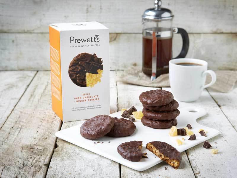 Cookies de Chocolate Negro Picante e Gengibre