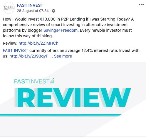Savings4Freedom FastInvest Share @ Savings4Freedom