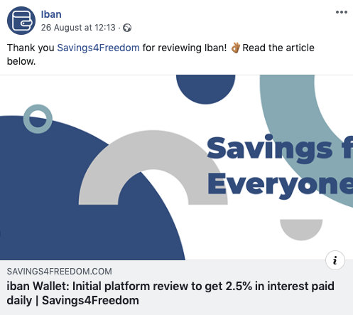 iban review @ Savings4Freedom