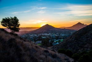"Sunset over one of the ""7 Sisters"" in SLO-town. Tough to beat a hike with this view."