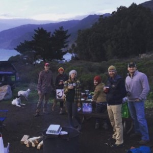 Travelers Christmas Camping in Big Sur.