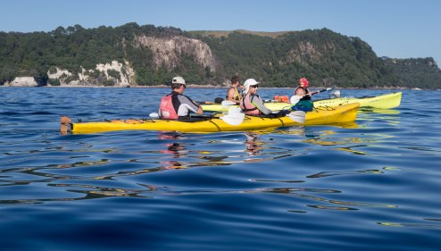 Kayaking Cathedral Cove Coromandel New Zealand