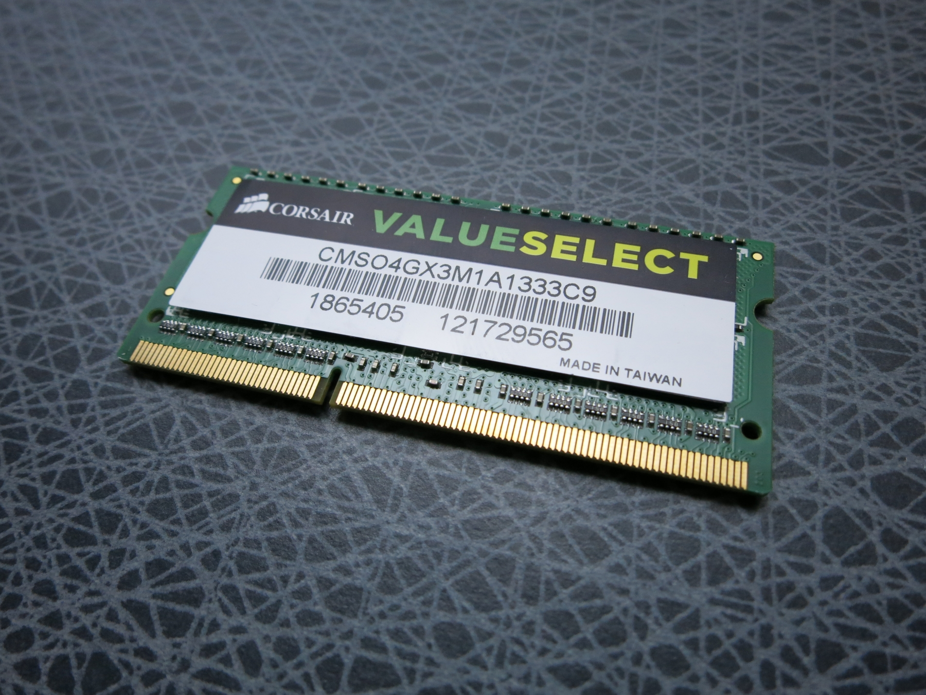Corsair CMSO4GX3M1A1333C9, 4GB SO-DIMM