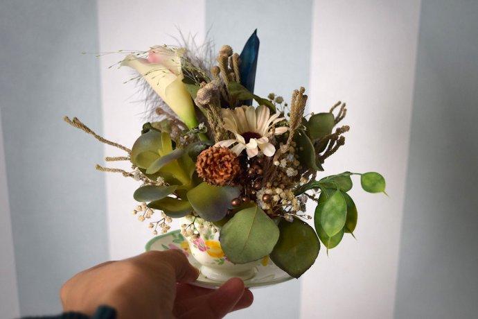 Kwitnąca filiżanka Flower Box Ptaszarnia