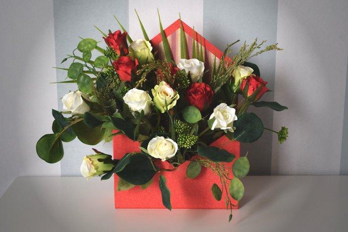 Różana koperta Flower Box Ptaszarnia