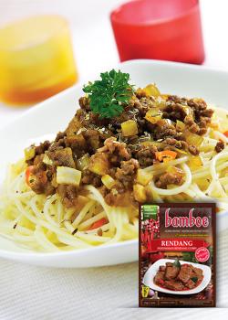 Spaghetti Saus Rendang