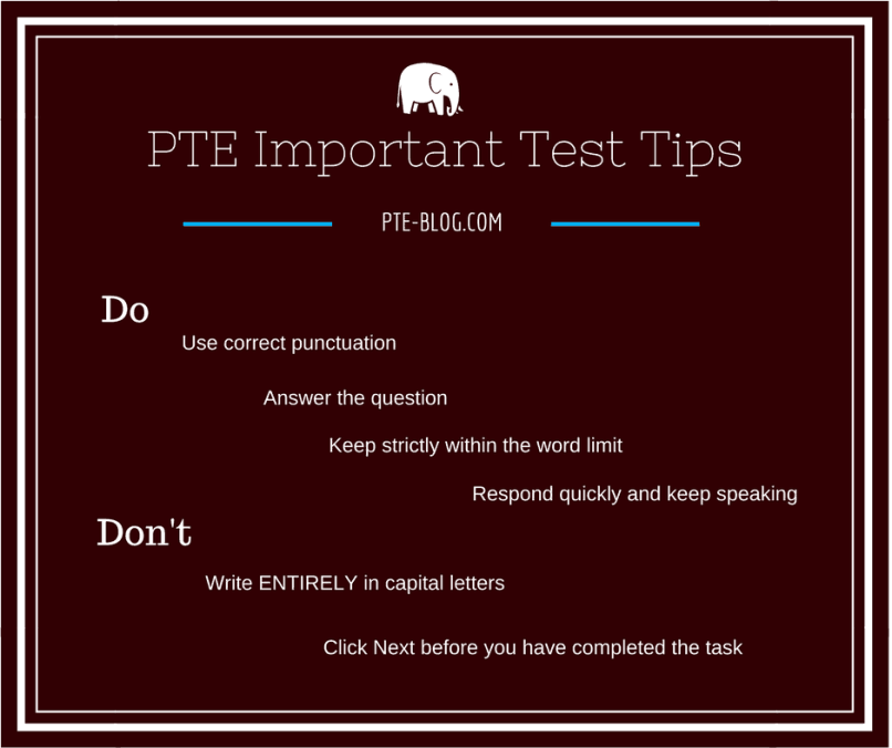 Important Test Tips - PTE Academic Tutorial