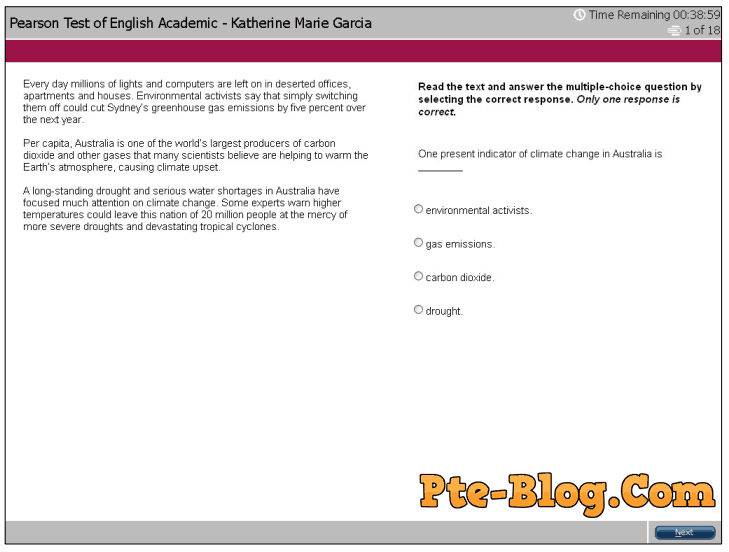 PTE Academic Overview Part 2 Reading Multi Choice