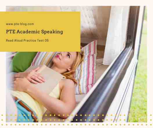 PTE Academic Speaking: Read Aloud Practice Test 05