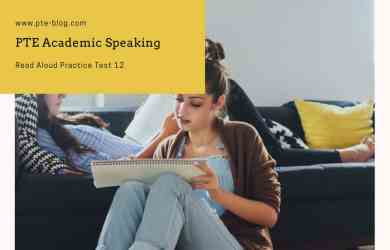 PTE Academic Speaking- Read Aloud Practice Test 12