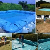 Como construir una piscina con balas de paja