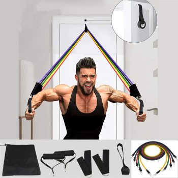 Elastic Resistance Bands (11 pc Set) Fitness Elastic Resistance Bands (11 pc Set)