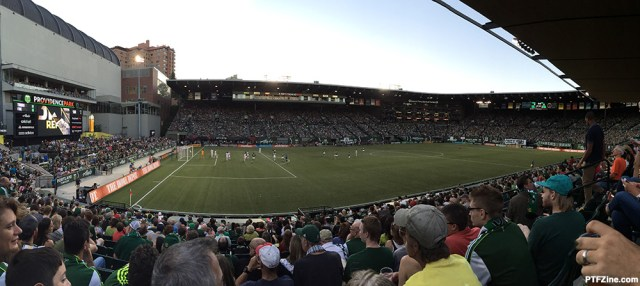 Random, unrelated photo f Providence Park from August 7, 2105 with Chicago Fire