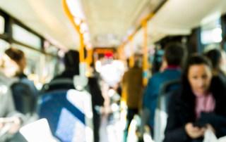 passengers riding the public transit sytem