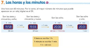 7. Las horas y los minutos