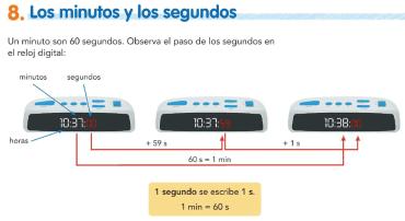 8. Los minutos y los segundos