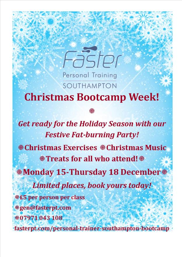 PT Gen Personal Trainer Southampton: Christmas Boot Camp!