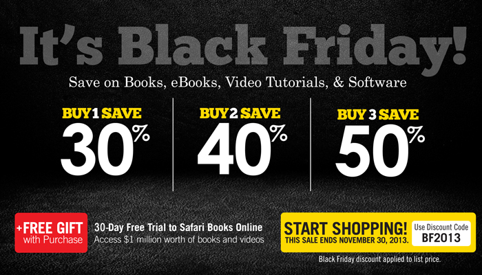 Black Friday Sale: Save up to 50% on Books, eBooks, Video, and Software from Cisco Press