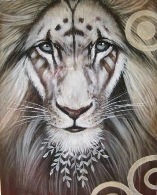 Lion guerrier