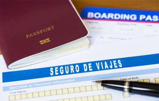 pasaporte y seguro de viajero