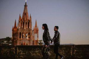 Pareja en San Miguel de Allende