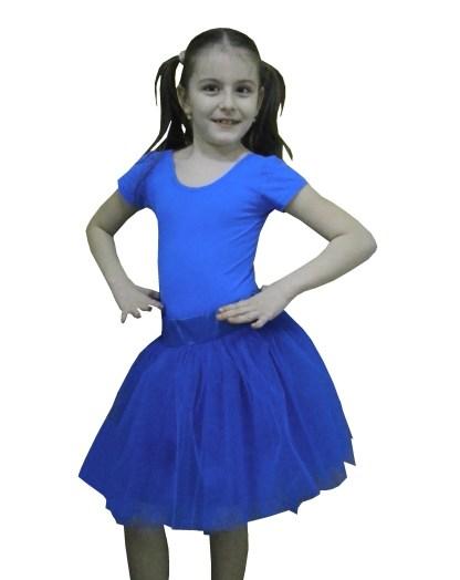 Fusta Tulle Albastru Tutu Copii Alessia 6 10 Ani Ptk Fashion